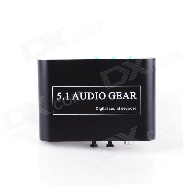 HD51-Un decodificador receptor 96KHz 24-bit Audio Digital - Negro