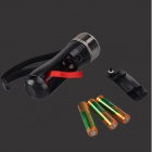 SingFire SF-GLO Glow Light Orange Color 1W 3-Mode Concert Party LED Torch - Orange + Black (3 x AAA)