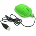 USB 2.0 Wired Cute Tortoise Style Optical Mouse - Green (120cm-Cable)