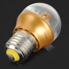 GLK001 E27 3W 150lm 3000K 12-SMD 2835 LED Warm White Light Bulb - Gold + Transparent (AC 220V)