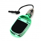 SHY-1 Universal Multifunctional ABS Capacitive Touch Screen Stylus Pen w/ 3.5mm Plug - Black + Green