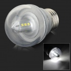 GLK002 E27 3W 150lm 6500K 12-SMD 2835 LED White Light Bulb - Silver + Transparent White (AC 220V)