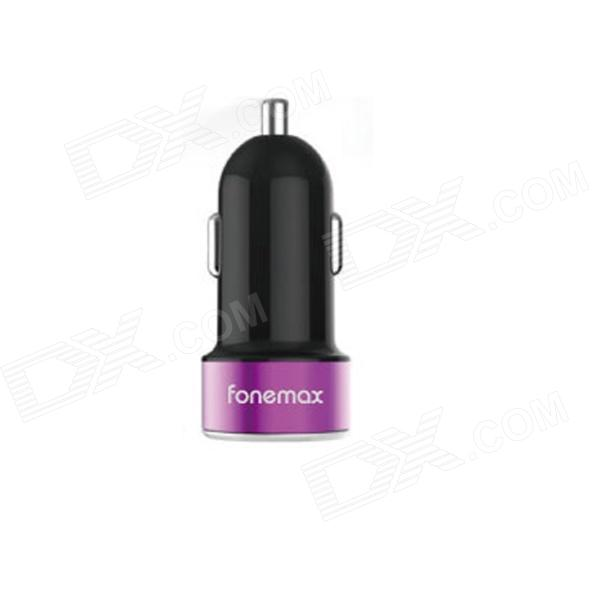 Fonemax FM-XPC-R18 Universal Dual USB Car Cigarette Lighter Charger - Black + Deep Pink fonemax car charger w dual usb black grey