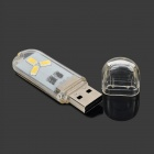 UltraFire USB 0.2W 21lm 3-5630 SMD LED White Touch Lamp - White (5V)