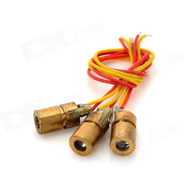 F-3 DIY 650nm Reparación Brass Red Laser Diodes - Golden (3 PCS)