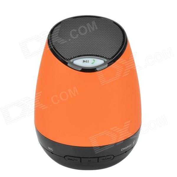 Portable Bluetooth V2.1 + EDR USB 2.0 stéréo mini haut-parleur w / Free Hand / TF Funcrtion - Orange + Noir