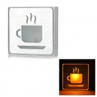 LED Yellow Light Coffee Public Indicating Sign - Silver (AC 85~265V)