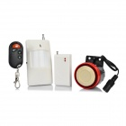 KK 05R Wireless Door Magnet + IR Sensor Alarm System w/ Remote Control - White