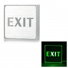 "LED Green Light ""EXIT"" Public Anzeige Sign - Silber (AC 85 ~ 265V)"
