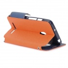 Roar Stylish Flip Open TPU + PU Case w/ Stand / Display Window for Asus ZenFone 5 - Orange + Black