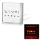 "LED Red Light ""Welcome"" Public Indicating Sign - Silver (AC 85~265V)"