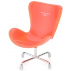 Creative Chair Shaped Cell Phone / Remote Control / Sundries Storage Rack - Orange