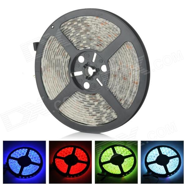 ZDM ZDM-5RGB06F1 Waterproof 72W 400lm 300-SMD 5050 LED RGB Light Strip - White (DC 12V / 5M) zdm waterproof 72w 200lm 470nm 300 smd 5050 led blue light strip white grey dc 12v 5m