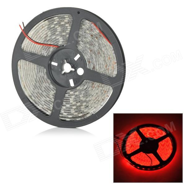 ZDM ZDM-5R06F1 Waterproof 72W 250lm 640nm 300-SMD 5050 LED Red Light Strip - White (DC 12V / 5M) zdm waterproof 72w 200lm 470nm 300 smd 5050 led blue light strip white grey dc 12v 5m