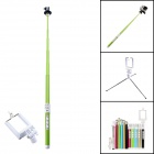 Carbon Fiber Bluetooth Intelligent Retractable Monopod for GoPro 2/3/3+ / IPHONE / Cellphone - Green
