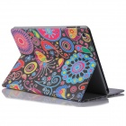 ENKAY ENK-3170 Jellyfish Pattern Flip Open Case w/ Stand / Card Slots for IPAD AIR - Multi-Color