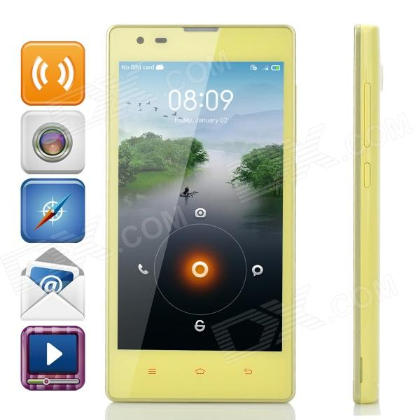 XiaoMi Redmi 1S Android 4.3 Quad-core WCDMA Bar Phone w/ 4.7 Screen, Wi-Fi and GPS - Yellow huawei p6s quad core android 4 2 wcdma bar phone w 4 7 screen wi fi ram 2gb and rom16gb white
