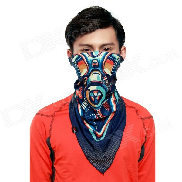 Wild Color VC1401 Gas Mask Patterned Outdoor Cycling V-Shaped Headband / Face Mask / Neck Scarf high quality respirator gas mask yihu a 8 set protective mask graffiti spray painting pesticide industrial safety gas mask
