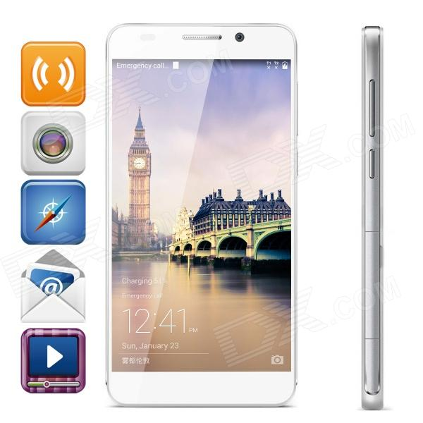Huawei Honor 6 4G Phone w/ 5 Screen, 13MP, Android 4.4.2, Kirin 920, Octa-core, 3GB RAM - White huawei honor 3x pro g750 t20 octa core android 4 2 td scdma 3g bar phone w 5 5 gps bluetooth