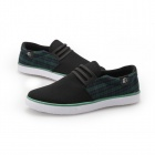 ShangJin Men's Grid Style Canvas Casual Shoes - Green + Black + White (Size 43)