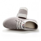 ShangJin Men's Fashionable Casual Suede Leather Shoes - Deep Grey + White (Pair / EUR Size 43)