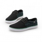 ShangJin Men's Grid Style Canvas Casual Shoes - Green + Black + White (Size 44)
