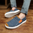 ShangJin Men's Breathable Canvas Shoes Sneakers - Dark Blue + Orange + White (EU Size 42)