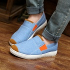 ShangJin Men's Breathable Canvas Shoes Sneakers - Light Blue + Orange + White (EU Size 43)