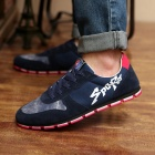 ShangJin Men's Stylish Skateboard Canvas Shoes - Navy Blue + Red + White (Size 44)