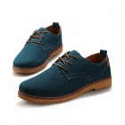 ShangJin Men's Fashionable Breathable Suede Leather Shoes - Light Blue + Brown (EU Size 43)