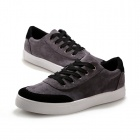 Shang-Jin Men's Breathable Canvas Shoes - Black + Grey + White (EUR Size 42)