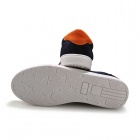 ShangJin Men's Breathable Canvas Shoes - Black + Orange + White (EUR Size 43)