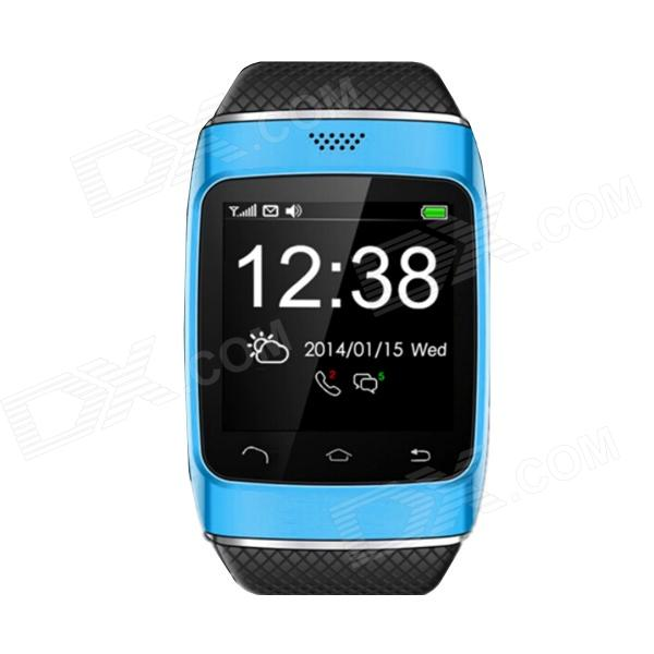S12 1.54 Screen Smart Bluetooth V3.0 Watch w/ FM Radio - Blue l 2 smart watch health metal smartwatch inteligente reloj with sleep monitoring bluetooth sedentary remind camera pedometer