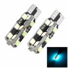 Marsing T10 Decoded 5W 24-SMD 2835 LED Ice Blue Light Universal Car Width Reading Bulbs (2 PCS)