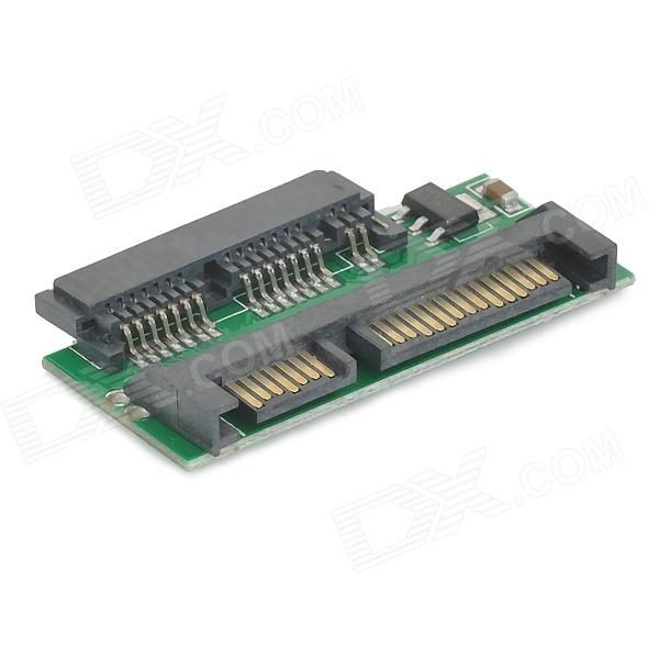 1.8 Micro SATA 16-Pin to 2.5 SATA 22-Pin HDD Adapter Card - Green + Black sata 22 pin male to micro sata 16 pin female power adapter