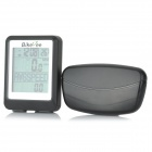 "BIKEVEE BKV-9100H Multi-Functional 1.7"" Screen Wireless Bike Computer w/ Heart Rate Function - Black"