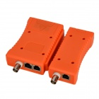 XQ-468B RJ11 / RJ12 / RJ45 / BNC Network / Telephone Cable Tester - Orange + Black (1 x 9V)
