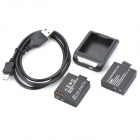900mAh Batteries + Charging Dock + Cable for SJ4000 Wi-Fi - Black