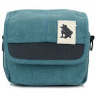 ZAP Universal Stylish Canvas Carrying Bag for Camera / DSLR - Blue