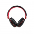 MQ33 Superb 3.5 mm On-ear Headphones with Microphone for Apple Devices - Black + Red