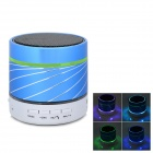 Portable Bluetooth v3.0 Speaker w/ Hands-Free / Colorful Light - Blue + Black