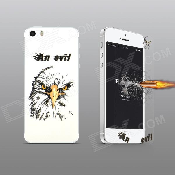 Angibabe Embossed Goshawk Head Pattern Front & Back Screen Protector for IPHONE 5 / 5S - Transparent стоимость
