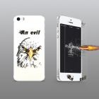 Angibabe Embossed Goshawk Head Pattern Front & Back Screen Protector for IPHONE 5 / 5S - Transparent