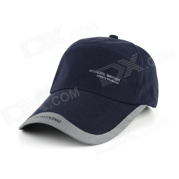 Fashionable Four Seasons Casual Cotton Cap - Dark Blue napapijri guji check dark blue