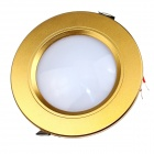 "ZHISHUNJIA G040-9W 4"" 550lm 6000K 33-SMD 2835 LED White Light Ceiling Lamp - Golden (AC 85~265V)"