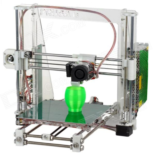 Heacent  i3 Reprap Prusa3D Printer DIY Full Assembly Kit - White (0.2mm Nozzle / 1.75mm Filament)