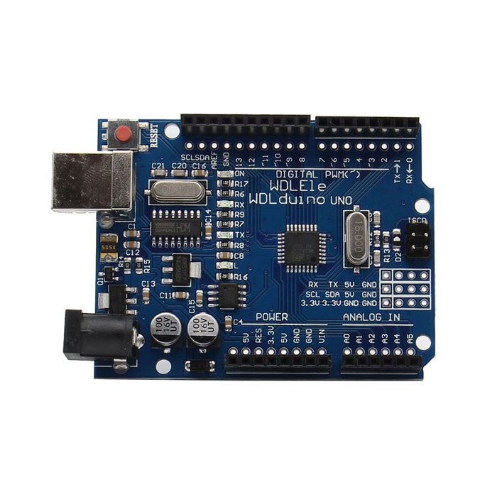 купить DCCduino ATMEGA328 Development Board for Arduino UNO R3 - Blue недорого