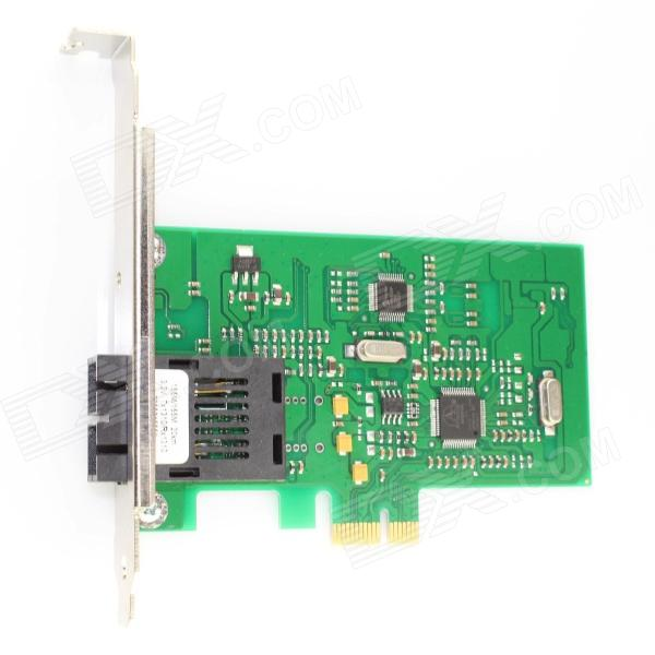 Winyao WY100FX-SC PCI-E X1 100Mbps Fiber Optic Network Card - Green