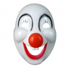 Stage Performance Show Clown Style Mask - White + Red