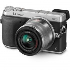 Genuine Panasonic LUMIX DMC-GX7 16.0 MP DSLM Camera with LUMIX G VARIO 14-42mm II Lens - Silver